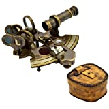 Brass Nautical Antique Sextant Replica for Sale Marine Navigation Navigation Buy Brass Sextant - With Leather Case