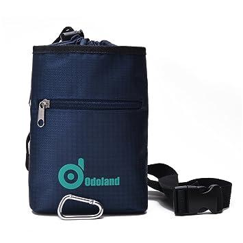 Bolsa de magnesio, Odoland® superiores de la calidad Dos bolsillos con cremallera impermeable para
