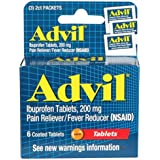 Advil Tablets, Travel Size - 6-ct. Packs (Set of 2)