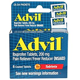 Advil Tablets, Travel Size – 6-ct. Packs (Set of 2)