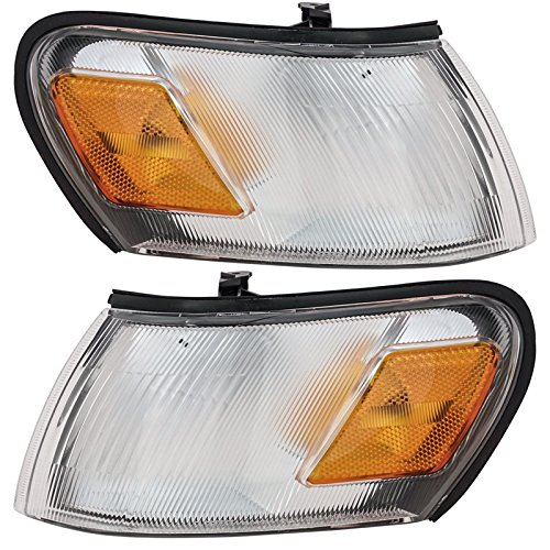 Side Marker Parking Turn Signal Corner Lights Pair Set for 93-97 Toyota Corolla