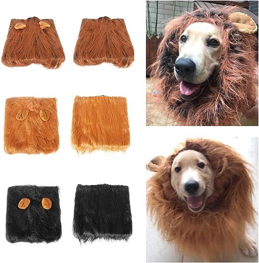 Godyluck Disfraz de Melena de león para Perro Disfraz de Perro de ...