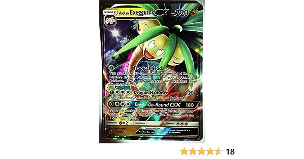 74//111 Ultra Rare NM Pokemon Sun /& Moon Crimson Inv 1x Alolan Exeggutor GX