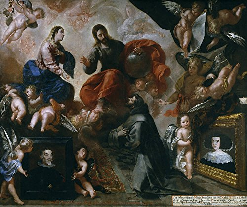 ['Caro Francisco San Francisco De Asis En La Porciuncula Con Los Donantes Antonio Contreras Y Maria Amezquita 1659 ' Oil Painting, 24 X 29 Inch / 61 X 73 Cm ,printed On High Quality Polyster Canvas ,this Replica Art DecorativeCanvas Prints Is Perfectly Suitalbe For Gym Decoration And Home Gallery Art And Gifts] (Baby Dormouse Costume)