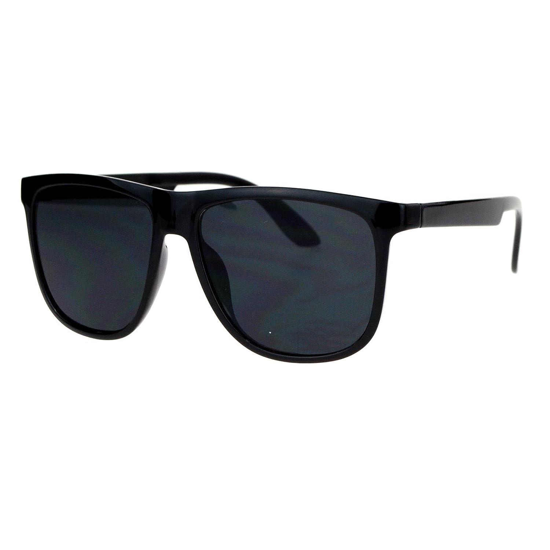 Black Square Frame Sunglasses Classic Unisex Fashion Plastic UV 400