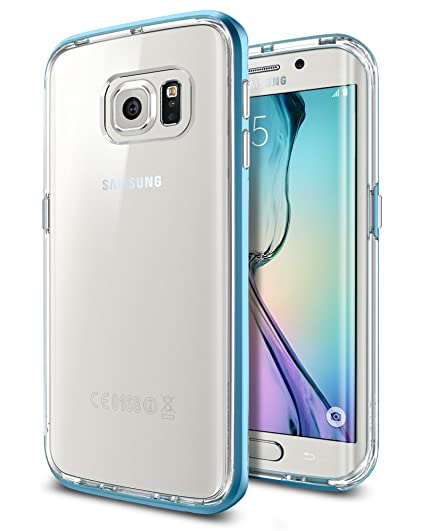 buy online 024e0 a8b00 Spigen Neo Hybrid CC Galaxy S6 Edge Case with Flexible Inner Casing and  Reinforced Hard Bumper Frame for Galaxy S6 Edge 2015 - Blue Topaz