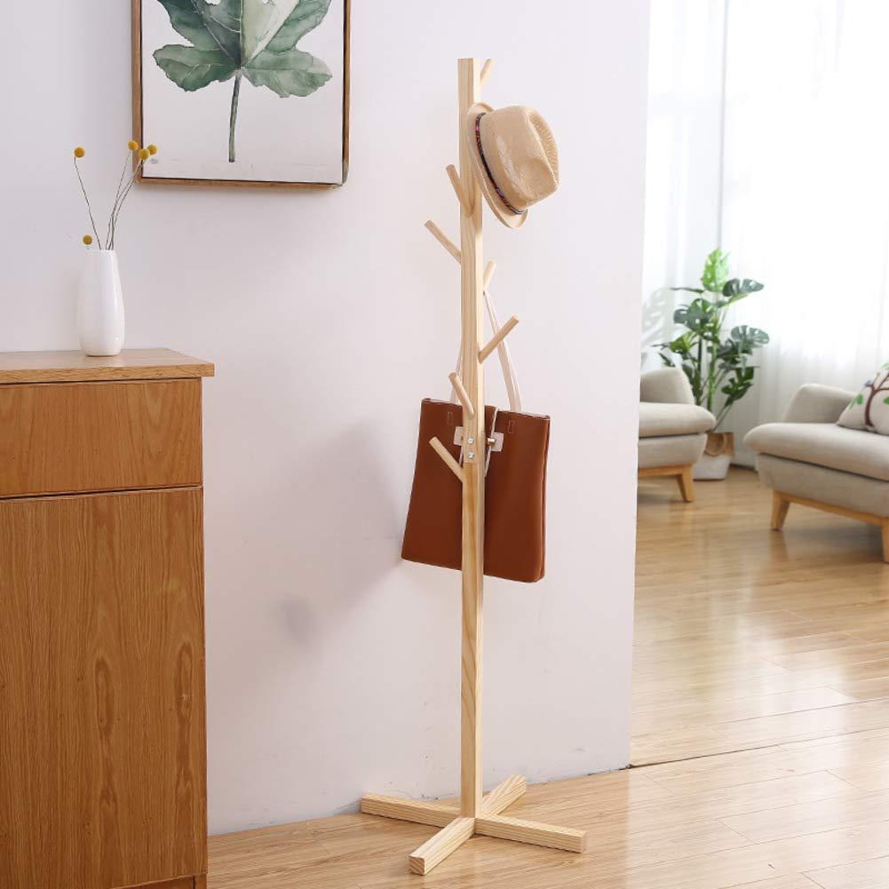 U 50x50x165cm Has Coat Stand Wood Stand Coat Hanger Tree-Shaped Coat Rack Hanger Has Coat Stand for Clothes, Has, Bag-Y 45x45x175cm