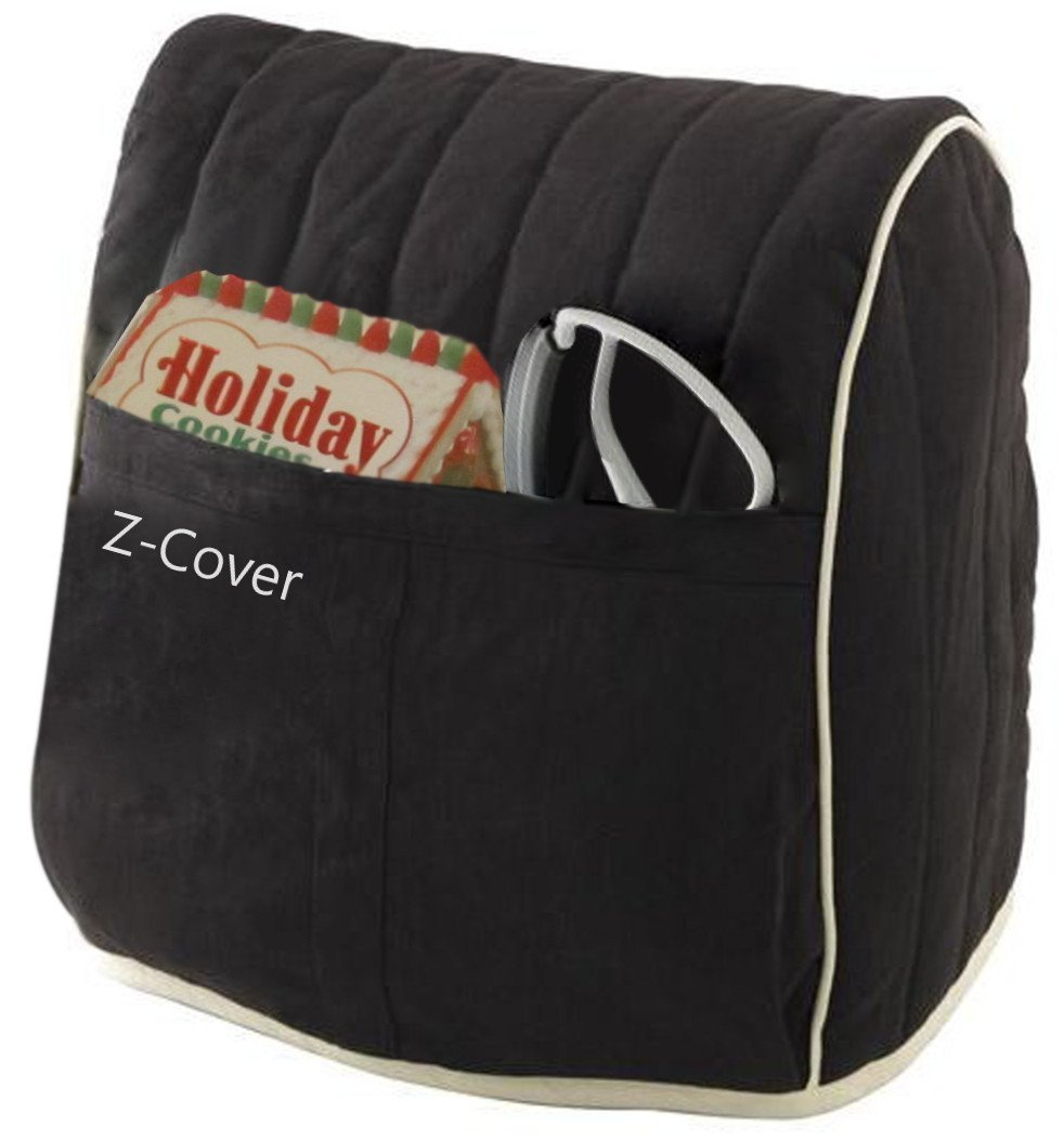 Best Mixer Cover For Tilt-Head Stand, Artisan and Classic Mixers - 100% Cotton, Z-Cover , Black