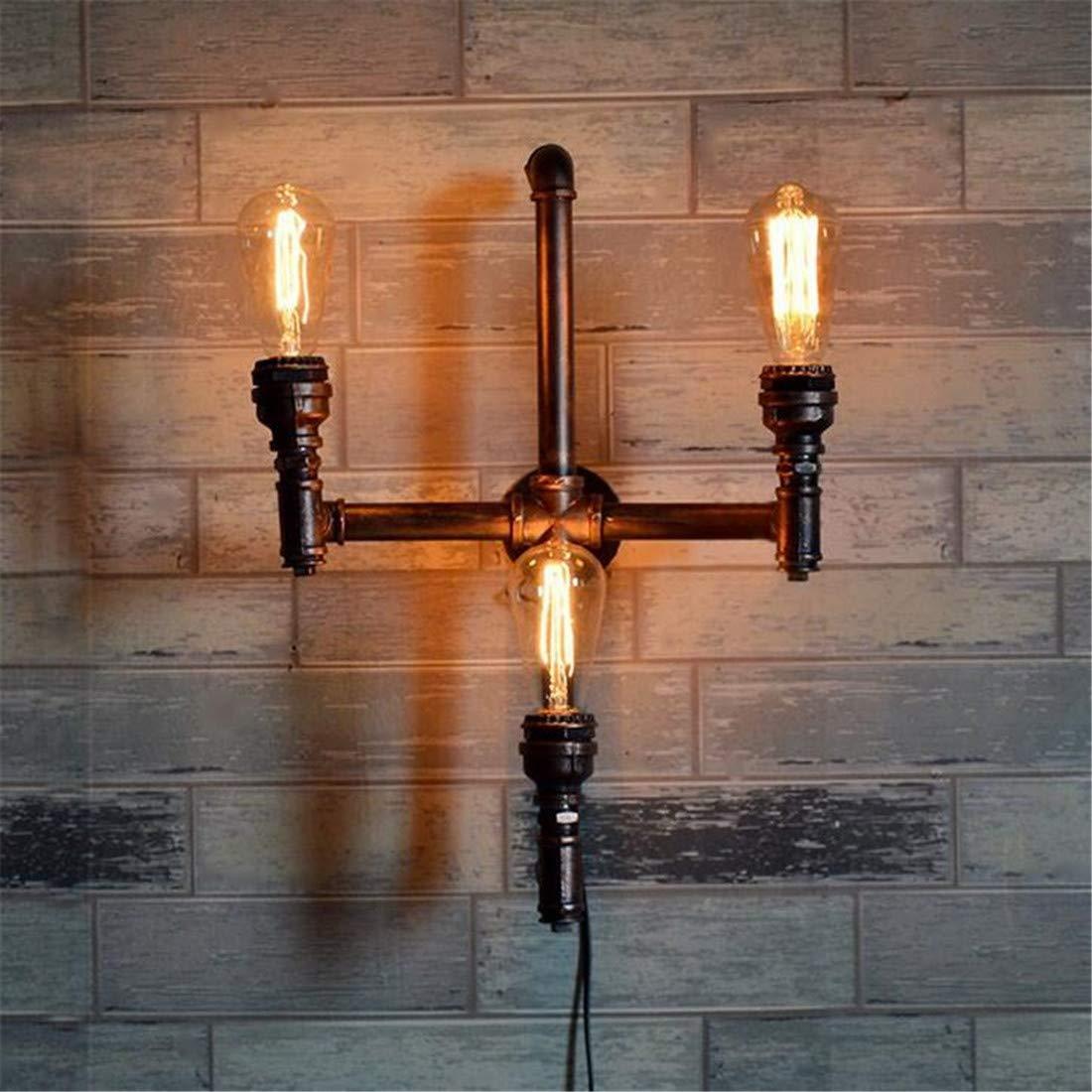 Moderne Kronleuchter Scheinwerfer Wasserpfeifen Wandleuchte Lichter Schatten 3 Lichter Mit E27 Sockel Industrielle Steampunk Vintage Edison Eisen Wandleuchte