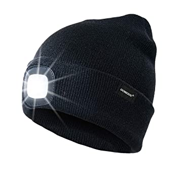 17b750f9 Oumeiou New Warm Bright LED Lighted Beanie Cap Unisex Rechargeable Headlamp  Hat Multi-color (