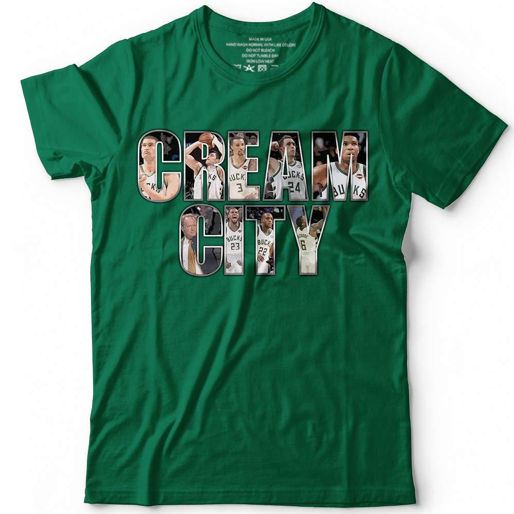 reputable site a8629 93afa Amazon.com: Milwaukee Basketball Shirts Cream-GOAT-City ...