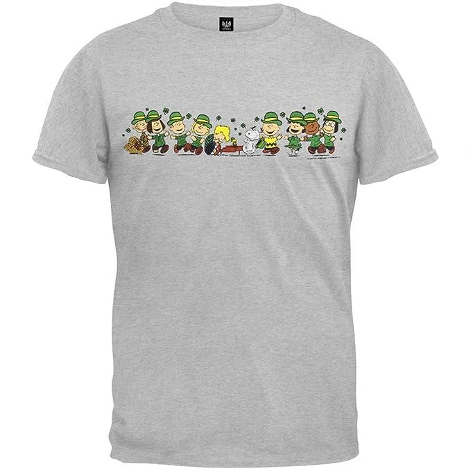 79c077399 Amazon.com  Peanuts - St Pats Line Up T-Shirt - Medium  Clothing