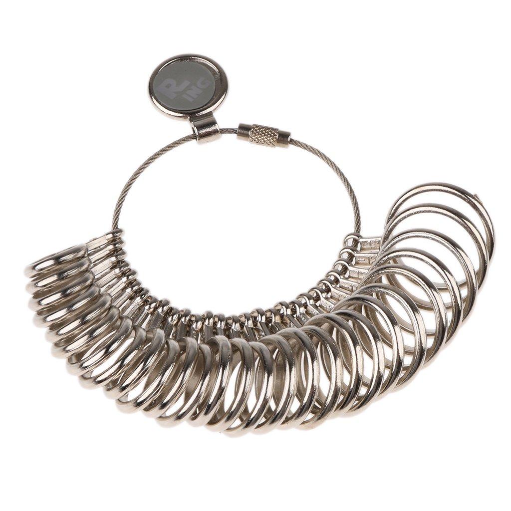 Calibro Misuratore Anello Ring Sizer Strumento Gioielliere Acciaio US 0 -13 Generico STK0115003381
