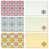 48 Pack All Occasion Assorted Blank Vintage Note Cards for Her Greeting Card Bulk Box Set - Colorful Flower Floral Designs Notecards with Envelopes Included 4 x 6 inches