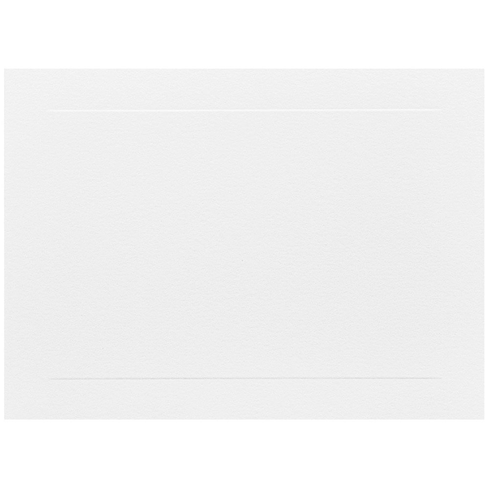JAM PAPER Blank Flat Note Cards - 5 1/8 x 7 (Fits in A7 Envelopes) - White Panel - 500/Pack