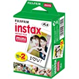 Fujifilm INSTAX Mini Instant Film 2 Pack = 20 Sheets (White) for Fujifilm Mini 8 & Mini 9 Cameras, Model:4332059078