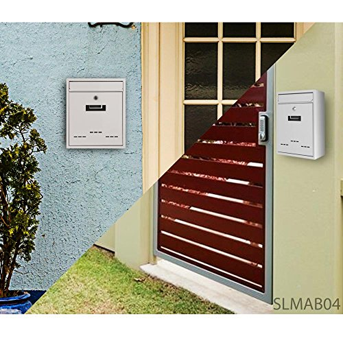 Serenelife Modern Wall Mount Lockable Mailbox Outdoor