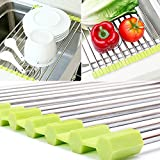 MAZIMARK--Sink Storage Dish Drying Rack Holder Fruit Vegetable Drainer Colanders Kitchen