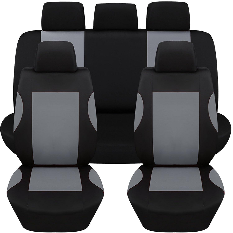 protezione completa coprisedili universali per auto Hamimelon di colore grigio