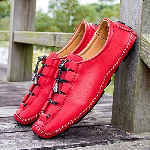 Rouge Oxfords Chaussure Pour Bevalsa Leather Classique Oxford à Chaussures Commercial Lacets Hommes Derbies qAqaHBwx7