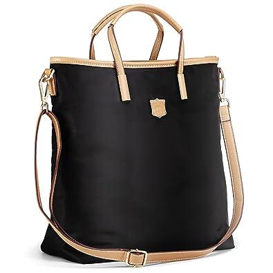 33ee68ab74 Lecxci Women s Oxford Nylon Large Capacity Tote Bag Top-Handle Satchel  Handbags