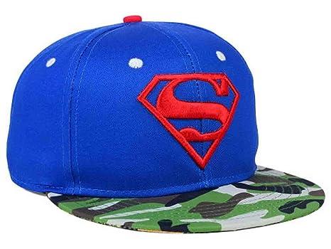 d4a0990eaa936 Amazon.com: DC Comics Superman Camo Mashup Flat Brim Snapback Hat ...