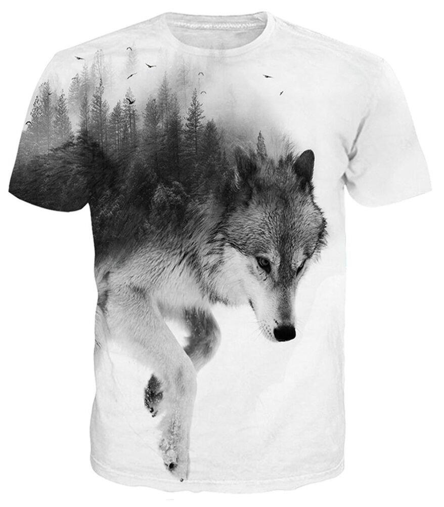 Idgreatim Unisex 3D Printed Short Sleeve T-Shirt Casual Graphic Tees Top /…