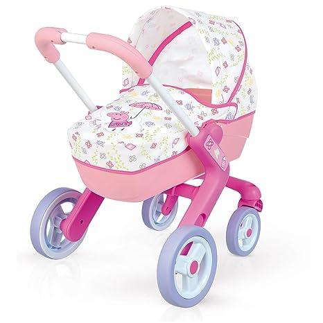 Amazon.es: Cochecito Pop Pram de Peppa Pig para muñecos bebé (Smoby 251306): Juguetes y juegos
