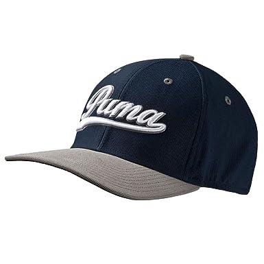 Puma Gorra de Golf - Script pre-Curved Blanco - Negro SS16 Azul Azul Marino: Amazon.es: Ropa y accesorios