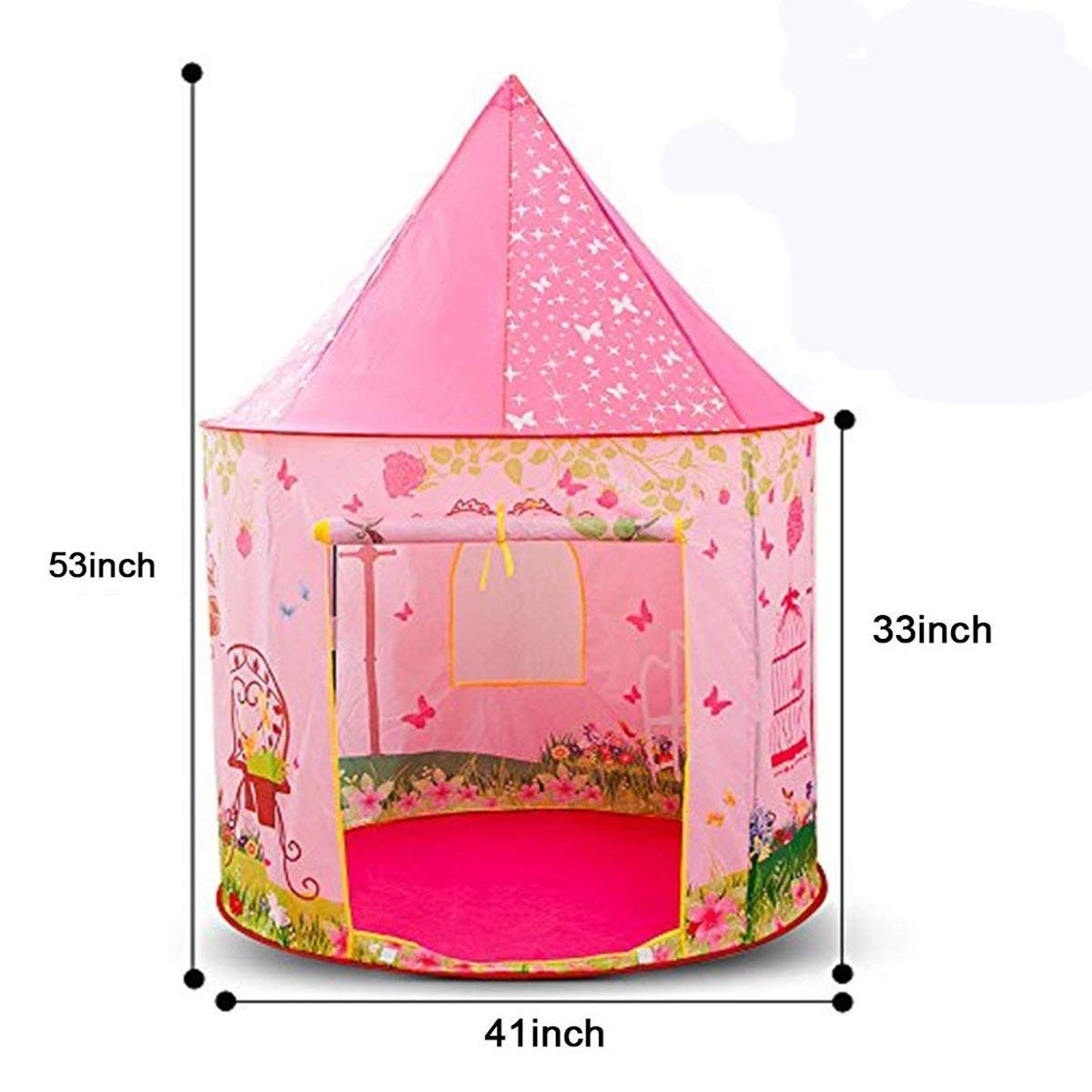 Kids Tent, Anyshock Pop Up Baby Toys Play Tent House Princess Castle Dollhouse Outdoor and Indoor for 1-8 Years Old Kids Girls Boy Toddler Infant (No LED Light,Princess Dollhouse)