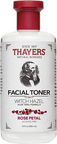Thayers Tonificador sin alcohol con pétalos de rosa, hamamelis y aloe vera, 4.73 ml