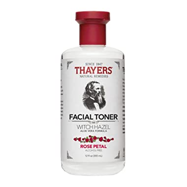Thayers Alcohol-Free Rose Petal Witch Hazel Toner with Aloe Vera, 12 ounce bottle, Package may vary