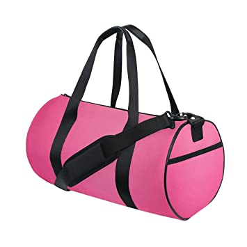 2cbdb67c4533 Amazon.com | OREZI Bright Pink Sports Duffel Bag for Women and Men ...