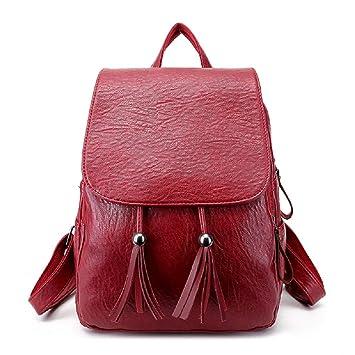 Zhrui Mochila Casual de Moda Vintage Mochila de Moda para Mujer (Color : Rojo): Amazon.es: Equipaje
