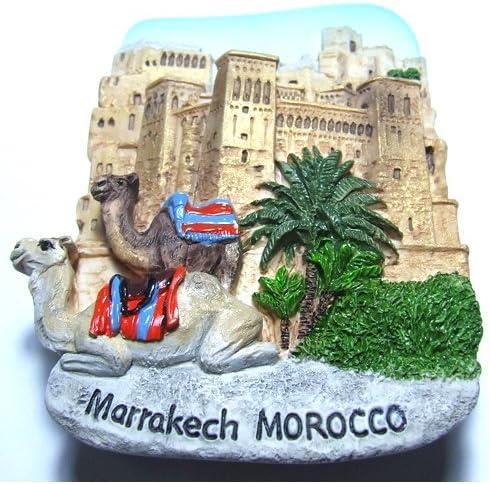 3D Resin Fridge Magnet Marrakech Morocco Tourist Souvenir Gift High Quality