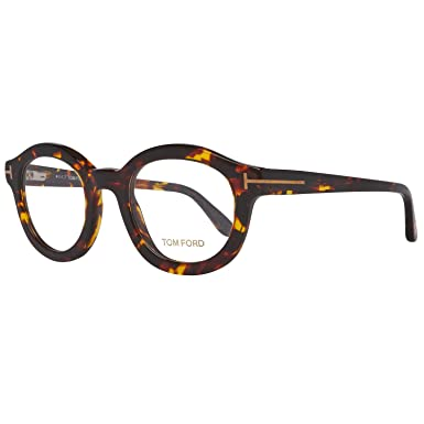 a16e2fb0e9dd0b Amazon.com  Tom Ford FT5460 052 49 Round   Dark Havana   Eyeglass ...
