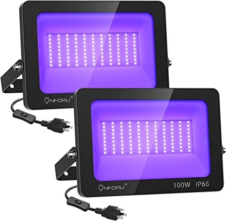 UV//Black Battery Operated LED Flood light for Halloween props and Haunted Houses