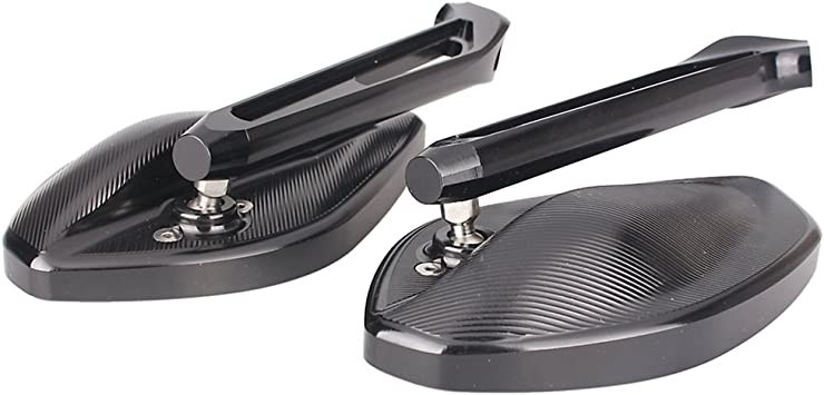 7//8 22mm Motorcycle HandleBar 10mm Mirror Thread Mount Holder Clamp Adaptor Black