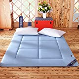 Yellow star Quilted foldable cushion mats,Tatami mattress student dorm futon mattress topper portable sleeping pad thin bed protection pad washable-D 120x200cm(47x79inch)