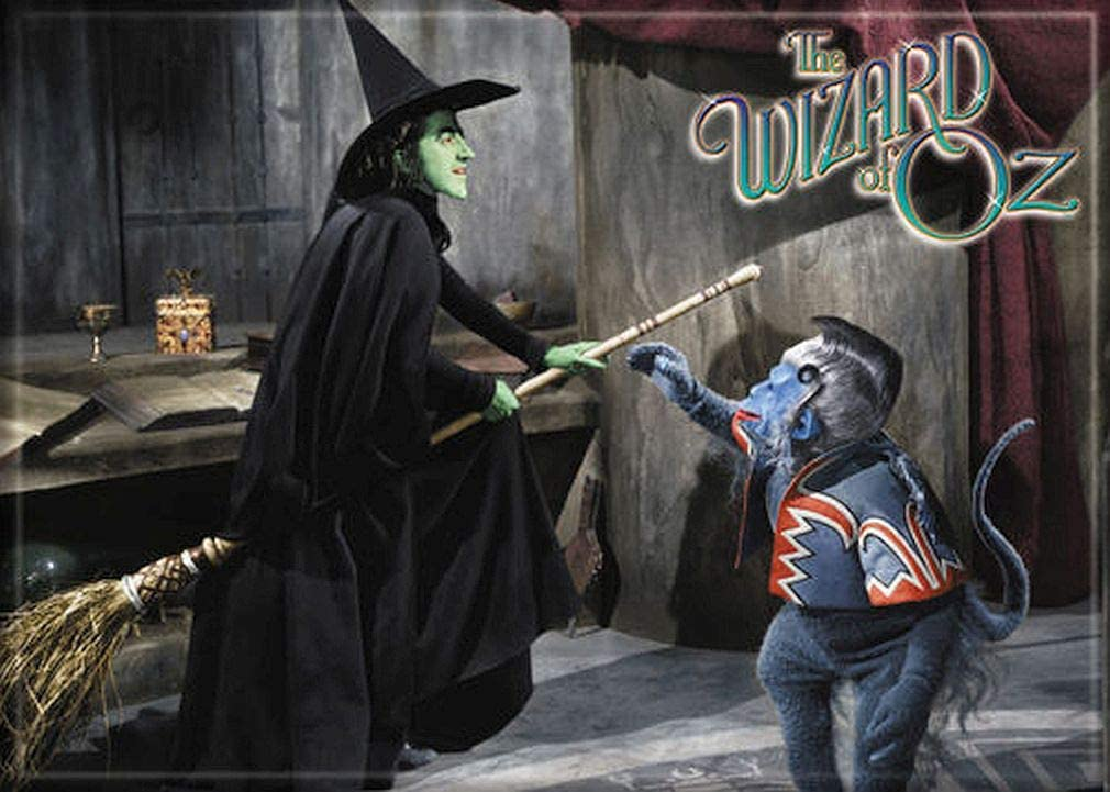 "Ata-Boy Wizard of Oz Wicked Witch on a Broom 2.5"" x 3.5"" Magnet for Refrigerators and Lockers"