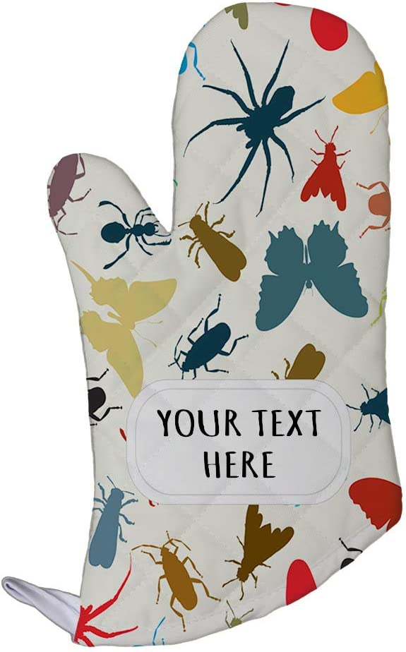 Polyester Oven Mitt Custom Insects Seemless Pattern Adults Kitchen Mittens