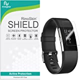 [8-PACK] Fitbit Charge 2 Screen Protector RinoGear [Active Protection] Flexible HD Invisible Clear Shield Anti-Bubble Film
