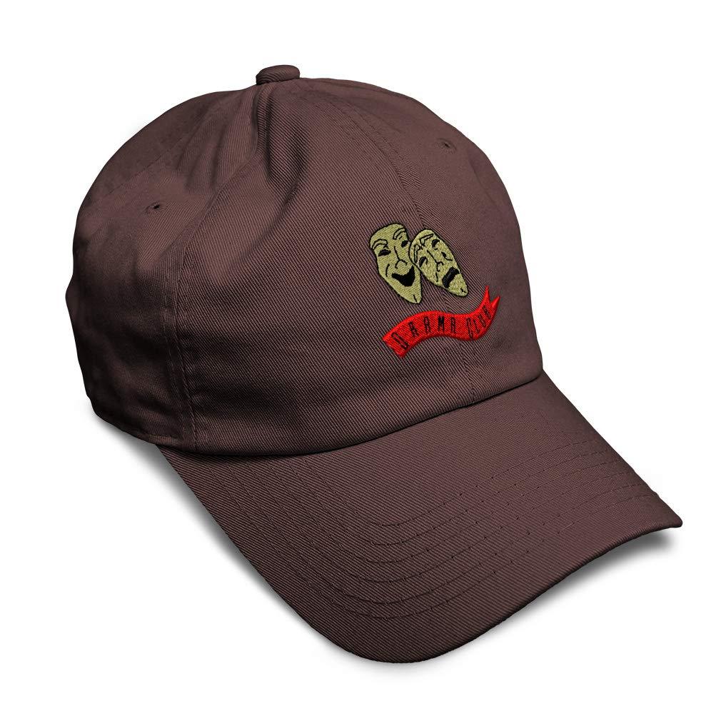Custom Soft Baseball Cap Drama Club Embroidery Dad Hats for Men /& Women