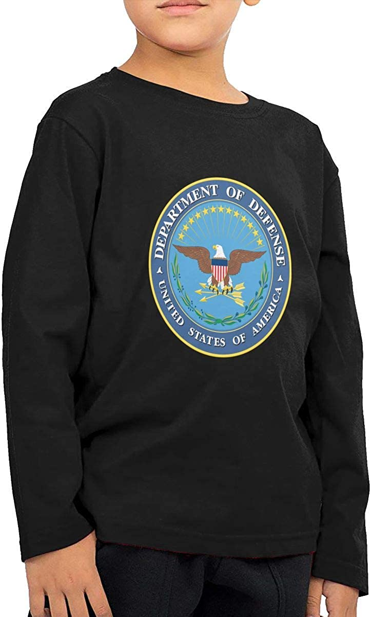 United States Department of Defense Childrens Long Sleeve T-Shirt Boys Cotton Tee Tops