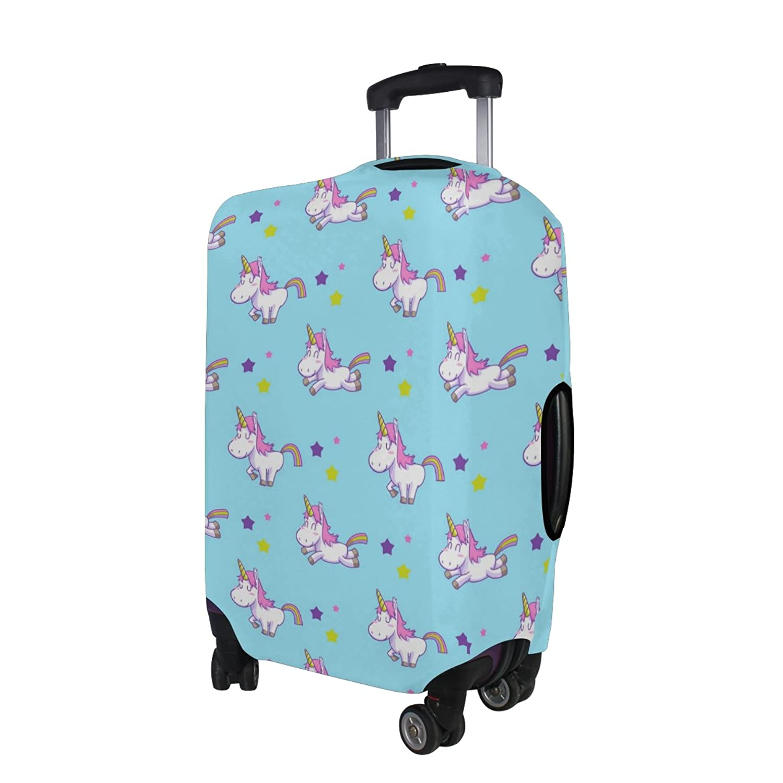 Amazon.com | LORVIES Unicorn Pattern Print Travel Luggage ...