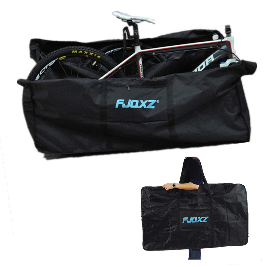 Kisshome Folding Bike Bag Thick Bicycle Carry Bag,Bike Transport Case for Transport,Air Travel,Shipping 26 inch to 29 inch