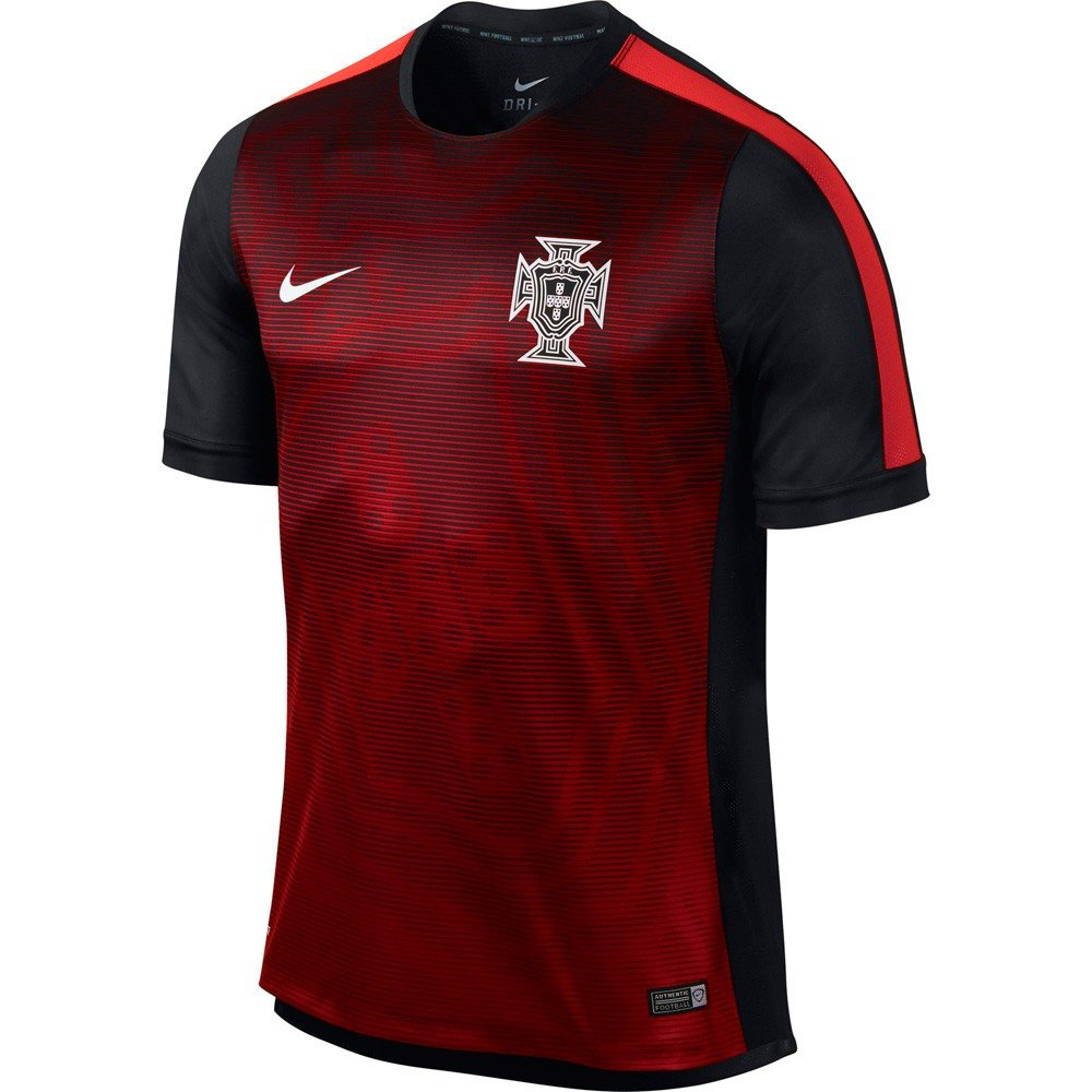 2015-2016 Portugal Nike Pre-Match Training Jersey (Red)