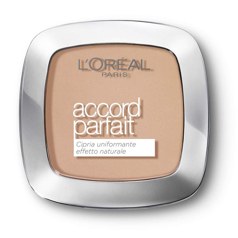 L'Oréal Paris True Match, Polvos Matificantes Accord Parfait, Tono Beige Rose R3