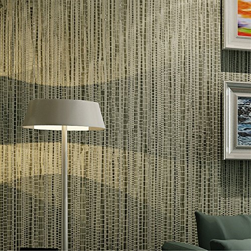 Blooming Wall: Faux Grasscloth Pattern Wallpaper Roll for Livingroom Bedroom, 20.8 In32.8 Ft=57 Sq.ft (Vintage Green)
