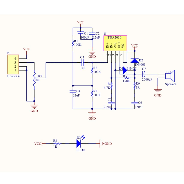 Tda2030 A Audio Verstrker Modul Power Pa Board 6 30w Stereo Amplifier Based Tda 1521 Taillenumfang 12 V Gewerbe Industrie Wissenschaft